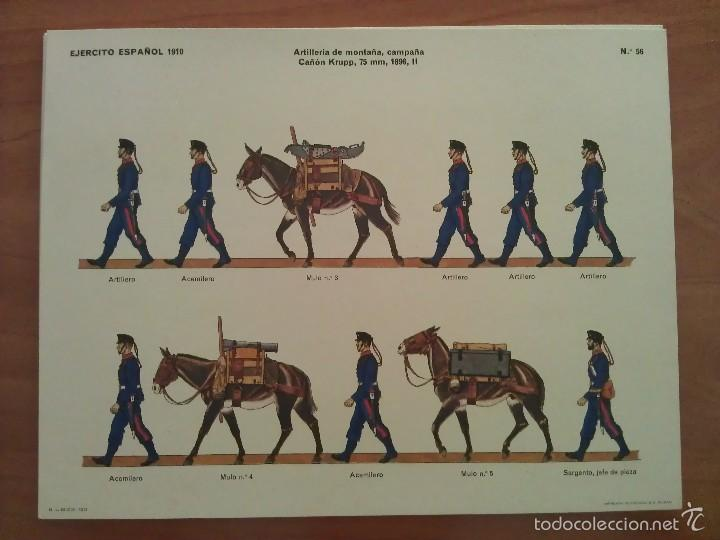RECORTABLE ARTILLERÍA DE MONTAÑA - CAÑÓN KRUPP (Coleccionismo - Recortables - Soldados)