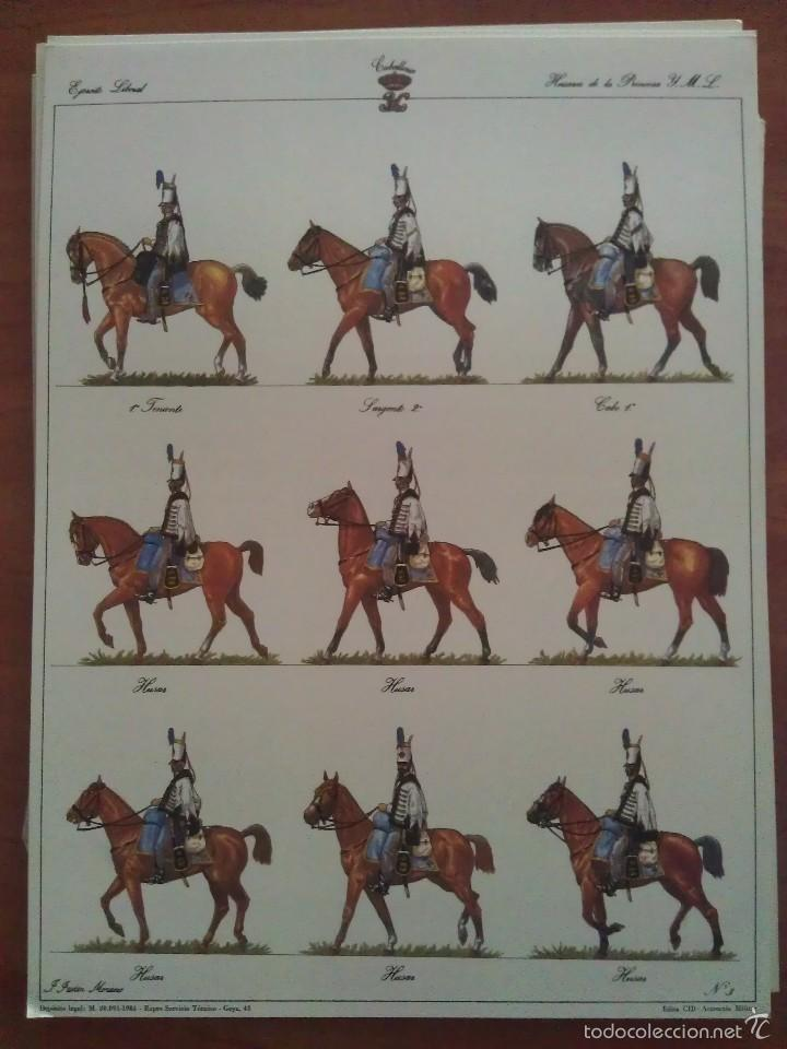 RECORTABLE EJERCITO LIBERAL - HUSARES DE LA PRINCESA (Coleccionismo - Recortables - Soldados)