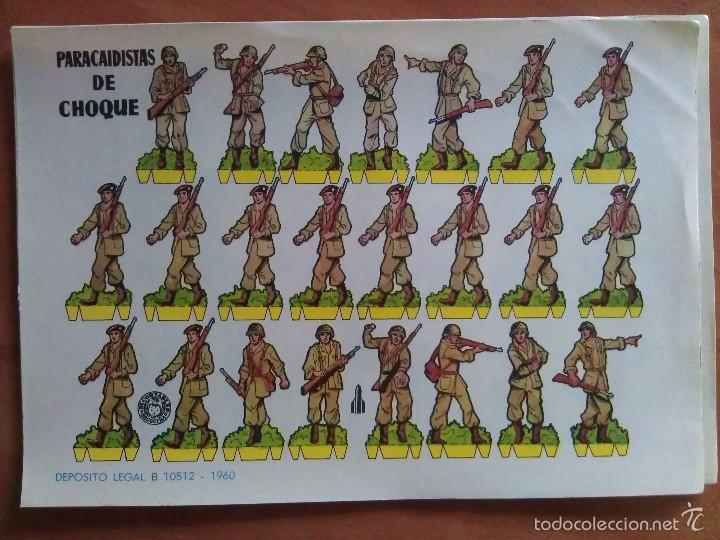 PARACAIDISTAS DE CHOQUE (Coleccionismo - Recortables - Soldados)