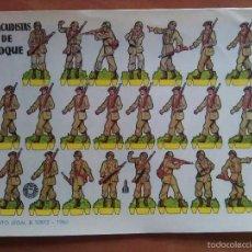 Coleccionismo Recortables: PARACAIDISTAS DE CHOQUE. Lote 60806803
