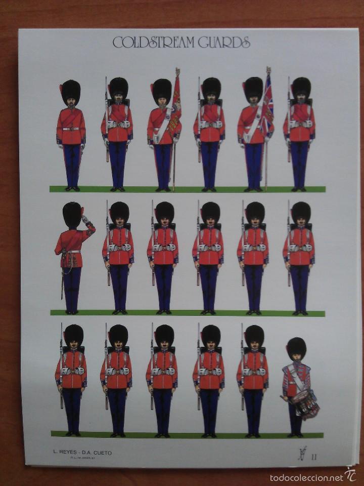RECORTABLE SOLDADOS : COLDSTREAM GUARDS (Coleccionismo - Recortables - Soldados)