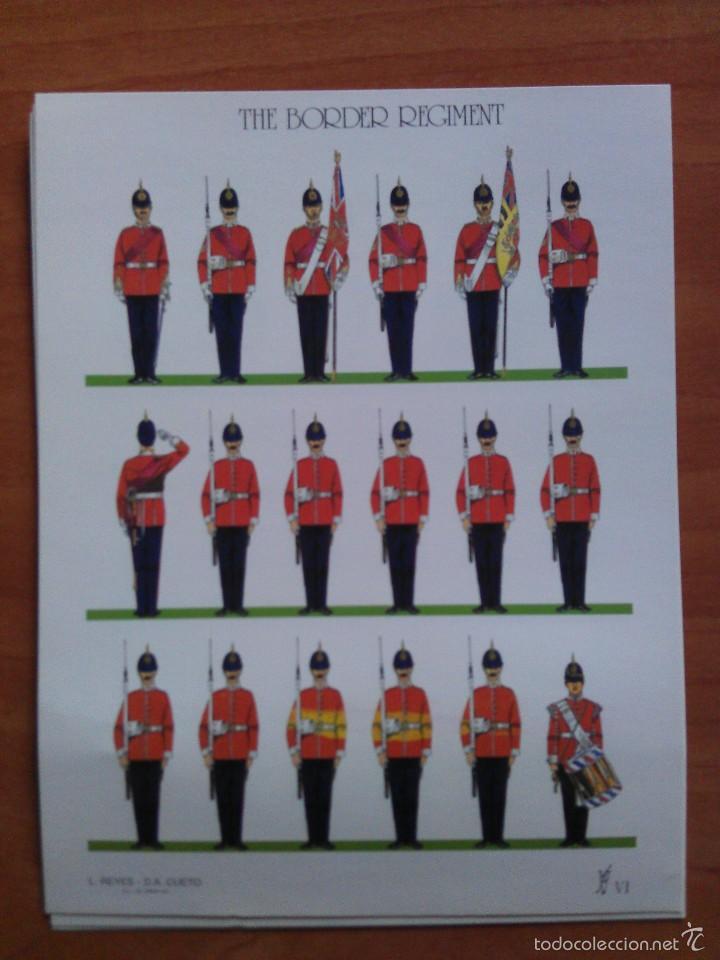 RECORTABLE SOLDADOS : THE BORDER REGIMENT (Coleccionismo - Recortables - Soldados)