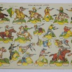 Coleccionismo Recortables: RECORTABLE EDICIONES LA TIJERA. COW-BOYS EN LUCHA. SERIE GRAN ILUSIÓN. Nº 7. AÑO 1958. TAMAÑO 33 X 2. Lote 60921811