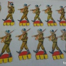 Coleccionismo Recortables: LOTE DE RECORTABLES DE SOLDADOS NAZIS. Lote 65009087