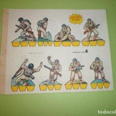 Coleccionismo Recortables: LOTE 9 RECORTABLES SOLDADOS SERIE AMARILLA EDITORIAL ROMA. Lote 67165033