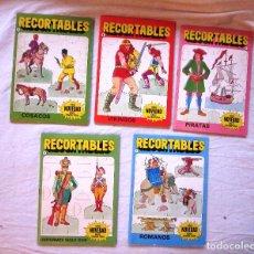 Coleccionismo Recortables: LOTE 5 RECORTABLES DE SOLDADOS: COSACOS, VIKINGOS, PIRATAS, ROMANOS...ED. BRUGUERA. AÑO 1984. NUEVO. Lote 68372885