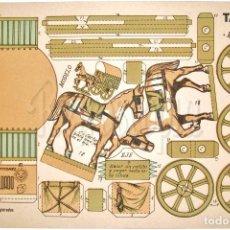 Coleccionismo Recortables: LAMINA RECORTABLE TARTANA RODANTE SERIE 100 Nº 102 CONSTRUCCIONES EL SOLDADO AÑOS 40. Lote 72804091