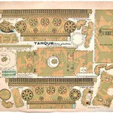 Coleccionismo Recortables: LAMINA RECORTABLE TANQUE TORRE GIRATORIA SERIE 300 Nº 301 CONSTRUCCIONES EL SOLDADO AÑOS 40. Lote 143628321