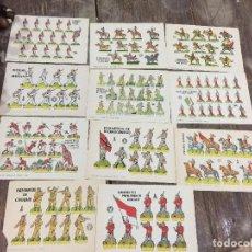 Coleccionismo Recortables: 11 LAMINAS DE RECORTABLES BRUGUERA SOLDADOS VARIOS . Lote 73666719