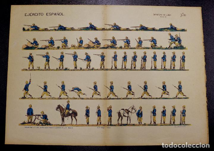 RECORTABLE. EJERCITO ESPAÑOL. INFANTERIA DE LINEA(MELILLA 1912.).Nº31. SUC. DE HERNANDO. (Coleccionismo - Recortables - Soldados)
