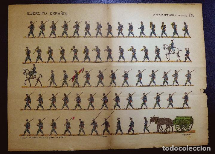 RECORTABLE. EJERCITO ESPAÑOL. INFANTERIA CAZADORES(DE CAMPAÑA) , Nº 34. SUC. DE HERNANDO. (Coleccionismo - Recortables - Soldados)