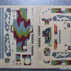 Coleccionismo Recortables: TANQUE PESADO - AÑOS 40 - LIT. M. PORTABELLA, ZARAGOZA - 2 HOJAS. Lote 77799869