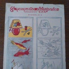 Coleccionismo Recortables: EL PEQUEÑO DIBUJANTE, MOD. Nº 2. EDITORIAL, LYA , MIDE. 34 1/2 X 25 C.M. VER FOTO. Lote 79750293