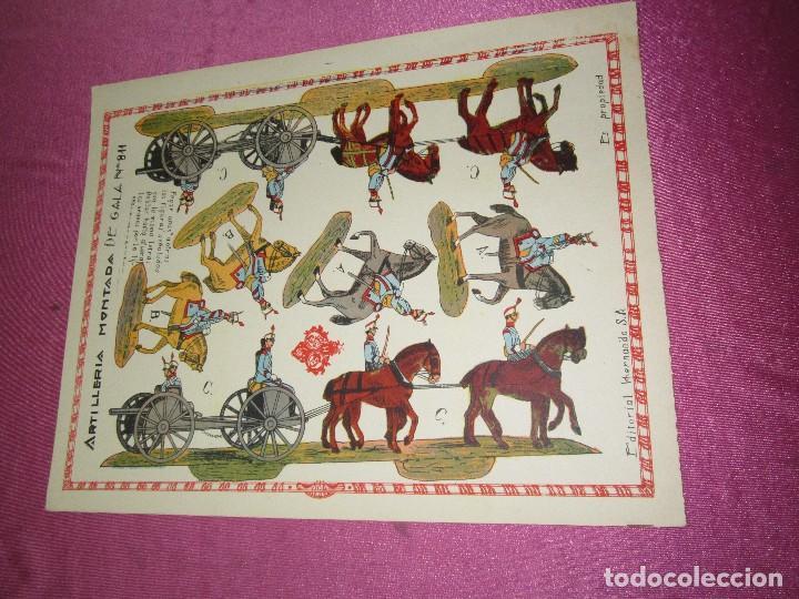 RECORTABLE EJERCITO ESPAÑOL ARTILLERIA MONTADA HERNANDO 811 AÑOS 20 30 (Coleccionismo - Recortables - Soldados)