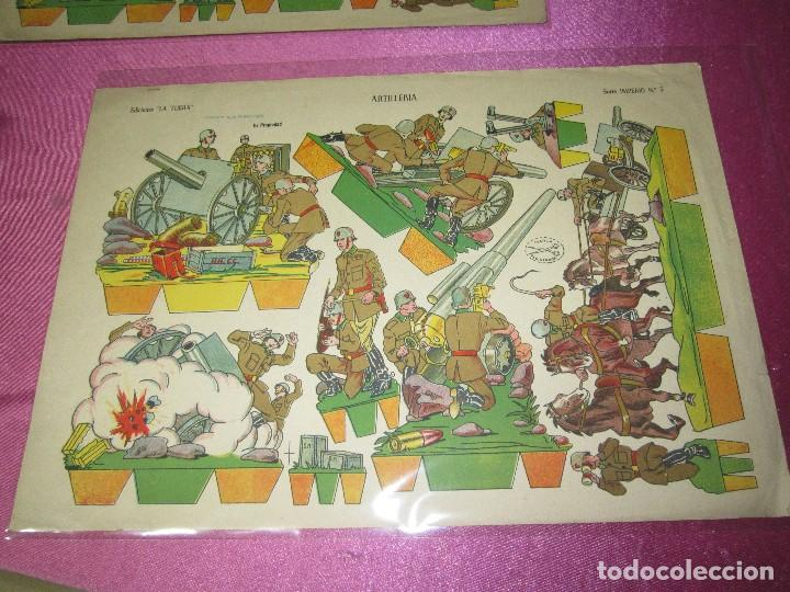 RECORTABLE ARTILLERIA EDICIONES LA TIJERA SERIE IMPERIO Nº 5 AÑO 1959. (Coleccionismo - Recortables - Soldados)