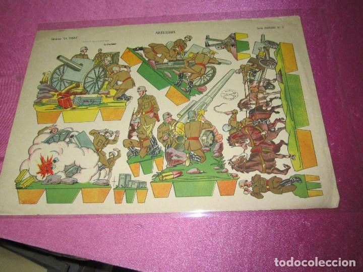 Coleccionismo Recortables: RECORTABLE ARTILLERIA EDICIONES LA TIJERA SERIE IMPERIO Nº 5 AÑO 1959. - Foto 2 - 80222141