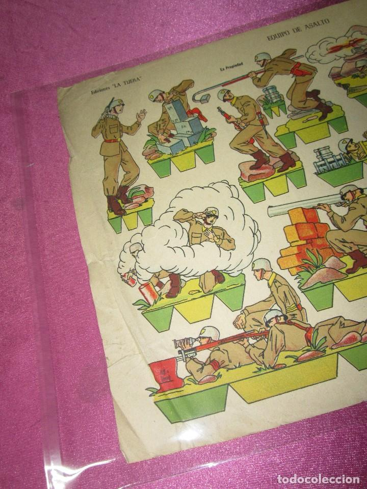 Coleccionismo Recortables: RECORTABLE EQUIPO DE ASALTO EDICIONES LA TIJERA SERIE IMPERIO Nº 7 AÑO 1959. - Foto 3 - 80223041