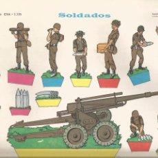 Coleccionismo Recortables: SOLDADOS - RECORTABLES EVA Nº 1105 - AÑO 1965. Lote 83470000