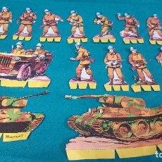 Coleccionismo Recortables: ANTIGUOS RECORTABLES DE SOLDADOS. Lote 84409172