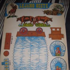 Coleccionismo Recortables: ALBUM RECORTABLES LEJANO OESTE . ED EDIVAS 1989 .COMPLETO INDIOS VAQUEROS . Lote 85252608