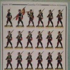 Coleccionismo Recortables: RECORTABLE MILITAR DELFIN SALAS. GUARDIA CIVIL. Lote 87375583