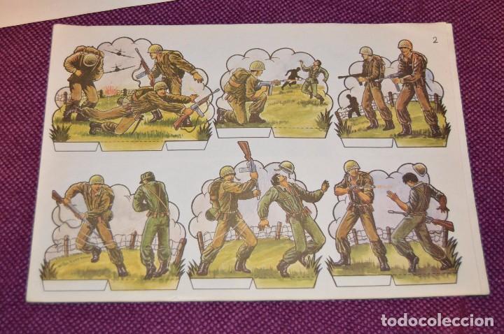 Coleccionismo Recortables: RECORTABLES - 10 LÁMINAS DIFERENTES DE SOLDADOS - NÚMEROS DEL 1 AL 10 - BUEN ESTADO - HAZ OFERTA - Foto 2 - 91580095