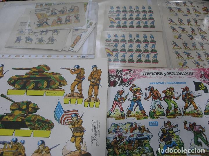 GRAN LOTE 57 RECORTES RECORTABLES ALGUNOS RAROS VER FOTOS (Coleccionismo - Recortables - Soldados)