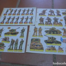 Coleccionismo Recortables: LOTE 4 RECORTABLES ANTIGUOS, MILITAR DE SOLDADOS SERIE NARANJA. RECORTABLE. Lote 92283965