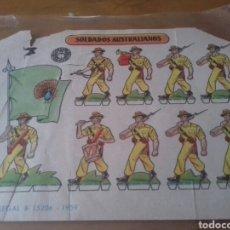 Coleccionismo Recortables: RECORTABLE SOLDADOS AUSTRALIANOS. Lote 95074400