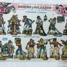 Coleccionismo Recortables: RECORTABLES HEROES Y SOLDADOS. COMPLETA 8 LAMINAS. EDICIONES BOGA, 1973, MUY BUENOS. Lote 148918130