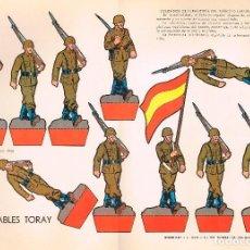 Coleccionismo Recortables: SOLDADOS DE INFANTERIA DEL EJERCITO ESPAÑOL. RECORTABLES TORAY Nº 153. Lote 162575718
