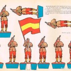 Coleccionismo Recortables: SOLDADOS ESPAÑOLES DE PRINCIPIO DEL SIGLO XX (1902). RECORTABLES TORAY Nº 154. Lote 98125107