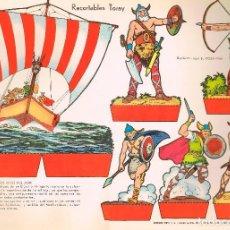 Coleccionismo Recortables: VIKINGOS (LOS REYES DEL MAR. RECORTABLES TORAY Nº 156. Lote 98125247