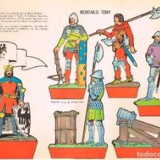 Coleccionismo Recortables: SOLDADOS ITALIANOS DE LA EDAD MEDIA. RECORTABLES TORAY Nº 157. Lote 98125331
