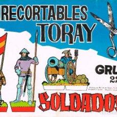 Coleccionismo Recortables: RECORTABLES TORAY GRUPO 22, CUADERNO COMPLETO CON 16 RECORTABLES DEL NÚMERO 153 AL 160 (2 DE CADA) . Lote 98125779