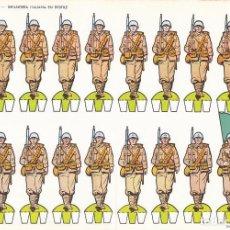 Coleccionismo Recortables: INFANTERIA ITALIANA EN DESFILE. RECORTABLES TORAY Nº 11. Lote 98146555