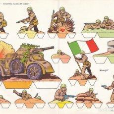 Coleccionismo Recortables: INFANTERIA ITALIANA EN ACCIÓN. RECORTABLES TORAY Nº 12. Lote 98146611
