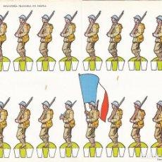 Coleccionismo Recortables: INFANTERIA FRANCESA EN DESFILE. RECORTABLES TORAY Nº 13. Lote 98146675
