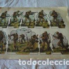 Coleccionismo Recortables: LAMINA RECORTABLE SOLDADOS. Lote 99425151