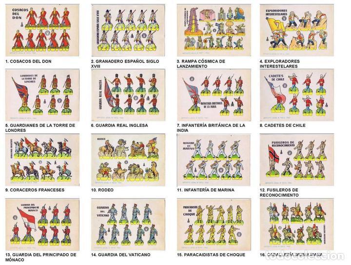 RECORTABLES MILITARES BRUGUERA. SERIE COHETE. COLECCIÓN COMPLETA 16 NºS (NO ACREDITADO) 1960. OFRT (Coleccionismo - Recortables - Soldados)