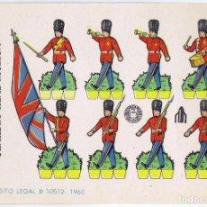 Coleccionismo Recortables: RECORTABLES MILITARES BRUGUERA. SERIE COHETE GUARDIA REAL INGLESA, 1960. OFRT. Lote 99456699