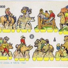 Coleccionismo Recortables: RECORTABLES MILITARES BRUGUERA. SERIE COHETE RODEO, 1960. OFRT. Lote 147670777