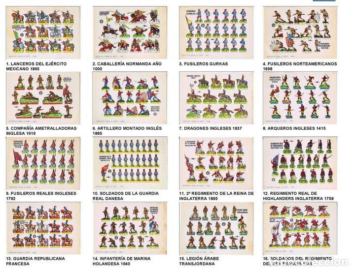 RECORTABLES MILITARES BRUGUERA. SERIE ÁGUILA. COLECCIÓN COMPLETA 16 NºS (NO ACREDITADO) 1960. OFRT (Coleccionismo - Recortables - Soldados)