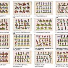 Coleccionismo Recortables: RECORTABLES MILITARES BRUGUERA. SERIE ÁGUILA. COLECCIÓN COMPLETA 16 NºS (NO ACREDITADO) 1960. OFRT. Lote 265494384