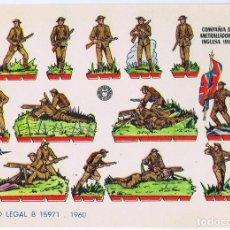 Coleccionismo Recortables: RECORTABLES MILITARES BRUGUERA. SERIE ÁGUILA COMPAÑÍA DE AMETRALLADORAS INGLESA 1916, 1960. OFRT. Lote 99456763