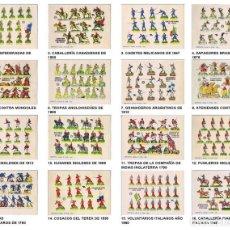 Coleccionismo Recortables: RECORTABLES MILITARES BRUGUERA. SERIE CAÑON. COLECCIÓN COMPLETA 16 NºS (NO ACREDITADO) 1960. OFRT. Lote 265494364