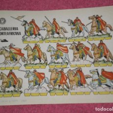 Coleccionismo Recortables: RECORTABLE ORIGINAL , BRUGUERA . CABALLERIA NORTEAFRICANA . AÑO 1960. Lote 99693275