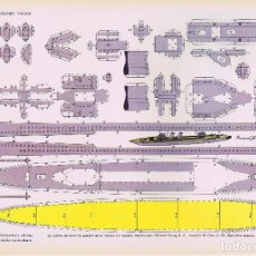 Coleccionismo Recortables: RECORTABLES TORAY GRUPO 15 BARCOS II 58. CRUCERO GALICIA (BEAUMONT), 1962. OFRT. Lote 99653452
