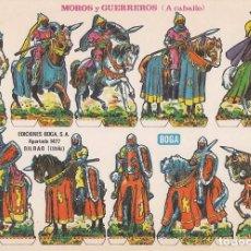 Coleccionismo Recortables: RECORTABLE, MOROS Y GUERREROS (A CABALLO). EDICIONES BOGA F. MEDIDAS 21 X 31 CMS. . Lote 101369623
