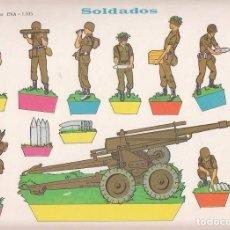 Coleccionismo Recortables: RECORTABLE, SOLDADOS. RECORTABLES EVA Nº 1105. MEDIDAS 22,5 X 30 CMS. AÑO 1965. CARTULINA. Lote 101375587